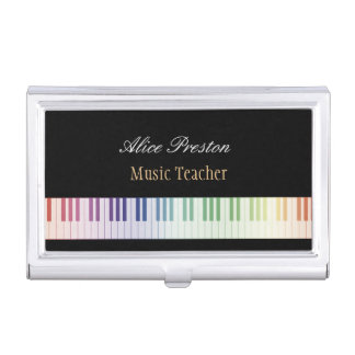Music Teacher Business Cards Holder