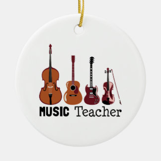 Music Teacher Ceramic Ornament