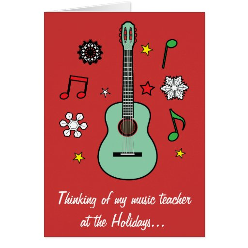 Music Teacher Holiday Card