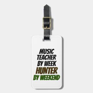 Music Teacher Hunter Luggage Tag