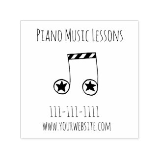 Music Teacher Marketing Tool for Music Lessons Self-inking Stamp