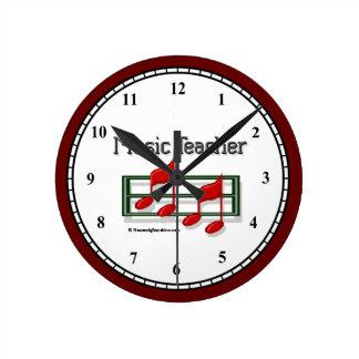 Music Teacher Notes Wall Clock