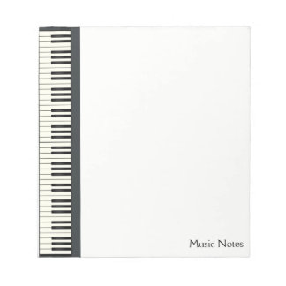 Music Teacher Piano Keyboard Musician Pianist DJ Notepad