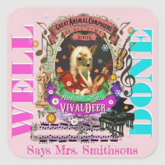 Music Teacher Reward Stickers Vivaldi Deer