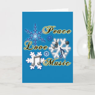 Christmas cards zazzle ca music teacher snowflakes non denominational holiday card m4hsunfo