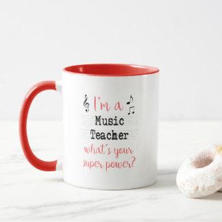 Music Teacher Super Power Mug
