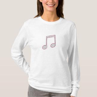 Music Teacher T Shirt - Pink & Black Double Note
