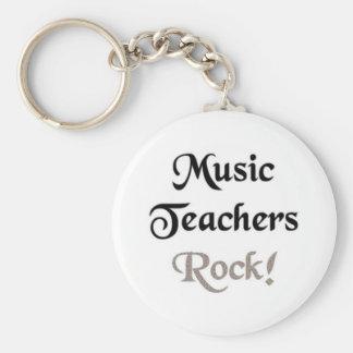Music Teachers Rock Basic Round Button Keychain