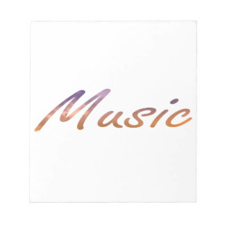 music text purple orange clouds notepads