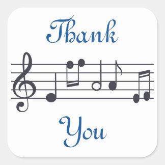 Music Thank You Sticker