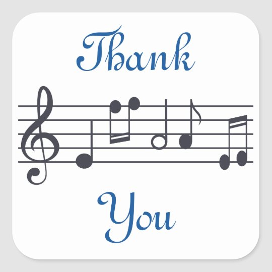 Music Thank You Sticker