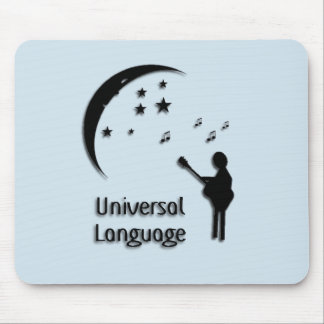 Music The Universal Language - Blue Tint Mouse Pad