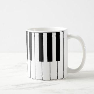 music-themed piano keys coffee mug