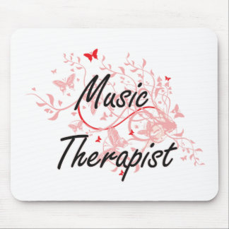 Music Therapist Artistic Job Design with Butterfli Mouse Pad