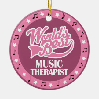 Music Therapist Gift For Her Round Ceramic Ornament