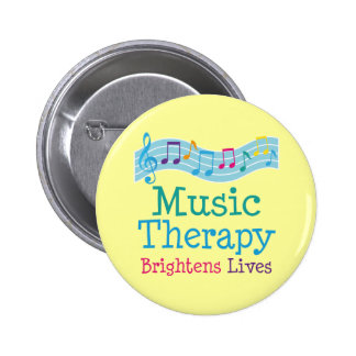 Music Therapy Brightens Lives 2 Inch Round Button