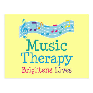 Music Therapy Brightens Lives Postcard