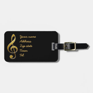 music to my ears luggage tag