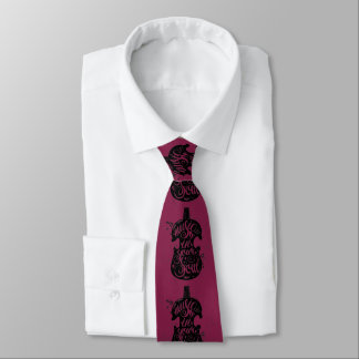 Music to my soul magenta men's tie