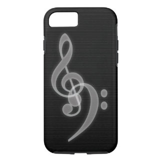 Music - Treble and Bass Clef iPhone 7 Tough Case
