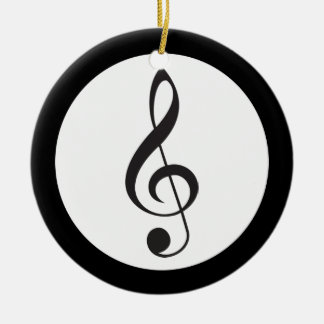 Music Treble Clef Keepsake Musician Gift Ceramic Ornament
