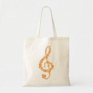 Music Treble Clef Orange Dots Bag