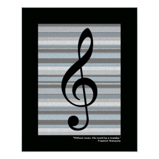 music treble clef print for wall