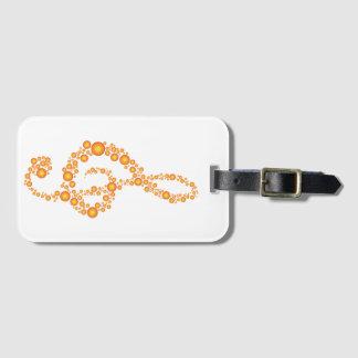 Music Treble Cleff Orange Dots Luggage Tage Bag Tag