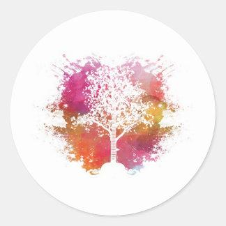 Music Tree Classic Round Sticker