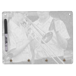 Music - Trombone - A helping hand Dry Erase Board With Keychain Holder
