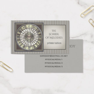 Music Tutor Circle of Fifths Business Card