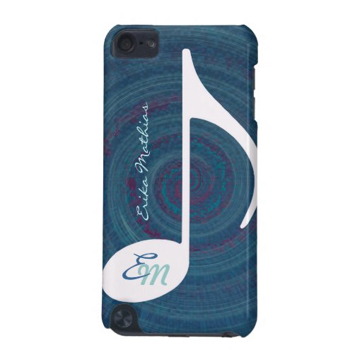 music twirl monogram iPod touch (5th generation) case