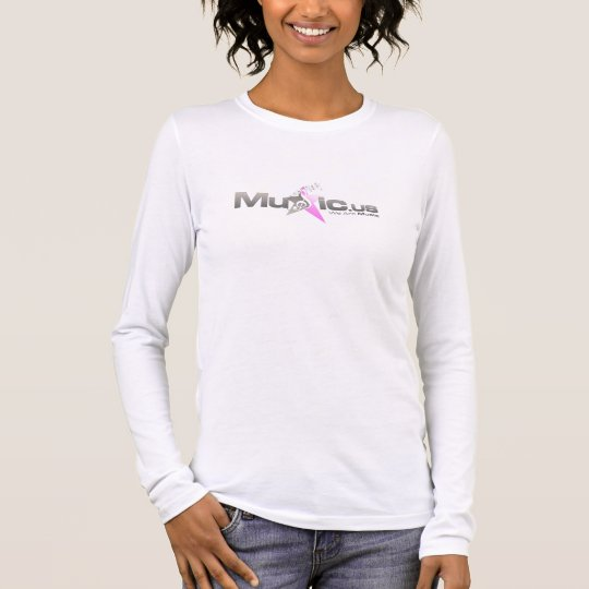 Music.us Womens Long Sleeve Pink Long Sleeve T-Shirt