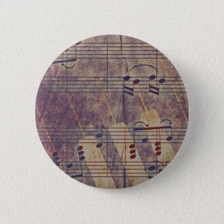 Music, vintage look B 2 Inch Round Button