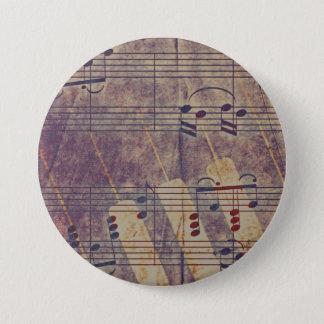 Music, vintage look B 3 Inch Round Button
