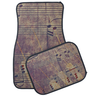 Music, vintage look B Car Carpet