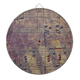Music, vintage look B Dartboard