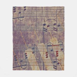 Music, vintage look B Fleece Blanket