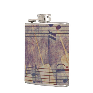 Music, vintage look B Hip Flask