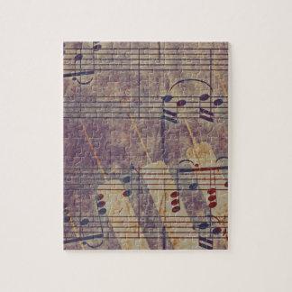 Music, vintage look B Jigsaw Puzzle