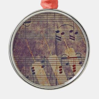 Music, vintage look B Metal Ornament
