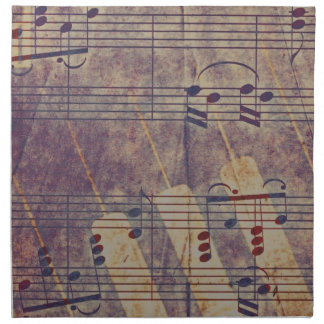 Music, vintage look B Napkin