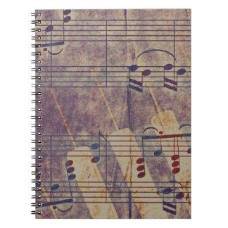 Music, vintage look B Notebook