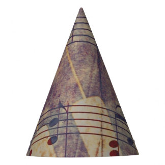 Music, vintage look B Party Hat