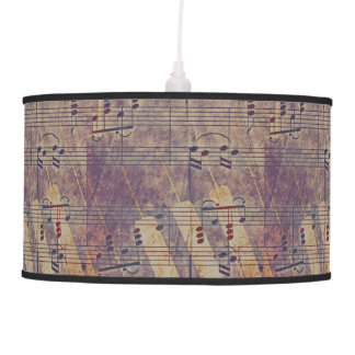 Music, vintage look B Pendant Lamp