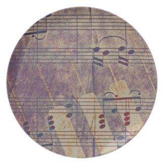 Music, vintage look B Plate