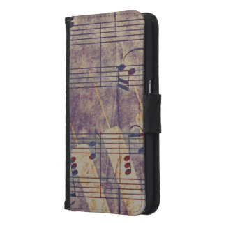 Music, vintage look B Samsung Galaxy S6 Wallet Case