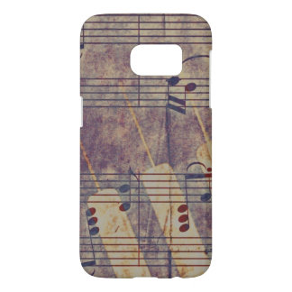 Music, vintage look B Samsung Galaxy S7 Case