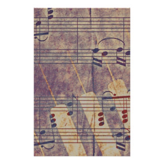 Music, vintage look B Stationery
