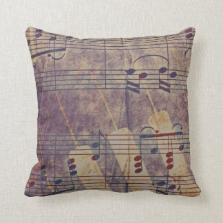 Music, vintage look B Throw Pillow
